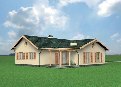 Загородный одноэтажный дом проекты