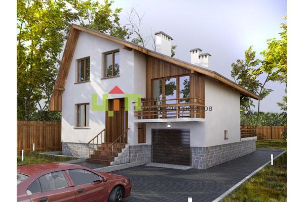 Небольшой двухэтажный дом из кирпича фото